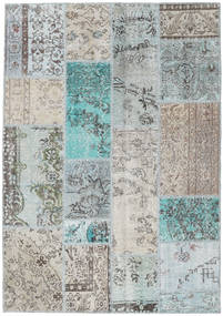 Patchwork Rug 142X202 Authentic  Modern Handknotted Light Grey/Beige (Wool, Turkey)