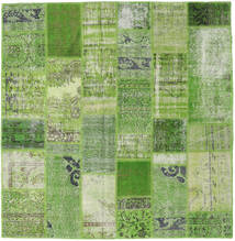 Patchwork Rug 200X204 Authentic  Modern Handknotted Square Olive Green/Light Green (Wool, Turkey)