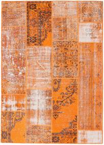 パッチワーク 絨毯 161X226 モダン 手織り 薄茶色/オレンジ (ウール, トルコ)