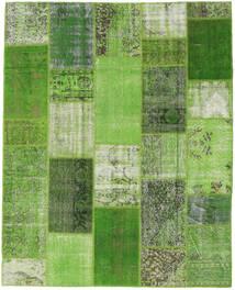 Patchwork Matto 204X253 Moderni Käsinsolmittu Vaaleanvihreä/Vihreä (Villa, Turkki)