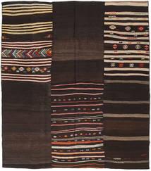 Kilim Patchwork Rug 191X218 Authentic  Modern Handwoven Dark Brown/Light Brown (Wool, Turkey)