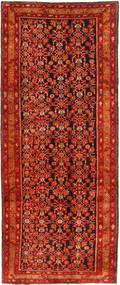 Nanadj Matta 144X352 Äkta Orientalisk Handknuten Mörkröd/Roströd (Ull, Persien/Iran)