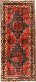 Hamadan Rug 148X351 Authentic  Oriental Handknotted Dark Red/Rust Red (Wool, Persia/Iran)