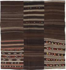 キリム パッチワーク 絨毯 216X228 モダン 手織り 正方形 濃い茶色 (ウール, トルコ)