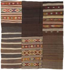 Kilim Patchwork Rug 187X207 Authentic  Modern Handwoven Dark Brown/Dark Red (Wool, Turkey)