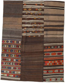Kilim Patchwork Rug 178X234 Authentic  Modern Handwoven Dark Brown/Brown (Wool, Turkey)