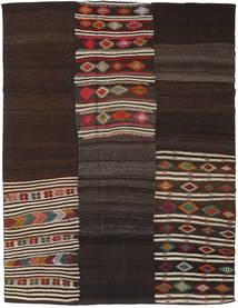 Kilim Patchwork Rug 200X268 Authentic  Modern Handwoven Dark Brown/Light Brown (Wool, Turkey)