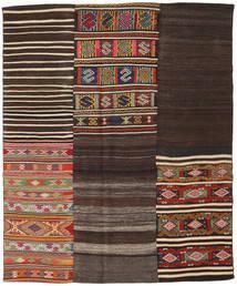 Kilim Patchwork Rug 194X234 Authentic  Modern Handwoven Dark Brown/Dark Red (Wool, Turkey)