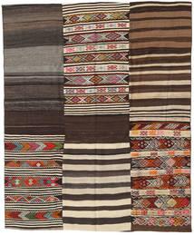 キリム パッチワーク 絨毯 198X238 モダン 手織り 薄茶色/濃い茶色 (ウール, トルコ)