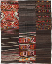 Kilim Patchwork Rug 207X239 Authentic  Modern Handwoven Dark Brown/Dark Red (Wool, Turkey)