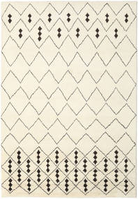 Berber Indo - Off-White/Black Rug 240X340 Authentic  Modern Handknotted Beige (Wool, India)