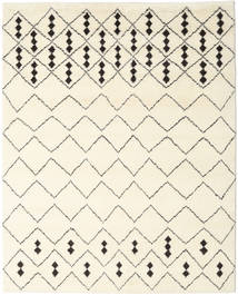 Berber Indo - Off-White/Black Rug 240X300 Authentic  Modern Handknotted Beige/White/Creme (Wool, India)