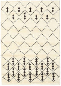 Berber Indo - Off-White/Black Rug 140X200 Authentic  Modern Handknotted Beige (Wool, India)