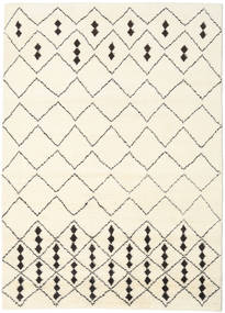 Berber Indo - Off-White/Black Rug 210X290 Authentic  Modern Handknotted Beige/White/Creme (Wool, India)