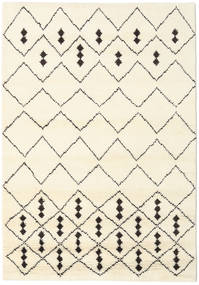 Berber Indo - Off-White/Black Rug 160X230 Authentic  Modern Handknotted Beige/White/Creme (Wool, India)