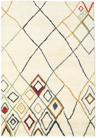 Berber Indo - Off-White/Multi Covor 160X230 Modern Lucrat Manual Bej/Bej-Crem (Lână, India)