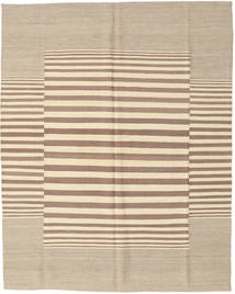 Kilim Modern Rug 156X196 Authentic  Modern Handknotted Light Grey/Beige (Wool, India)