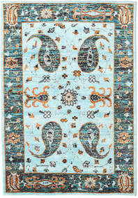 Vega Sari Silk - L.blue Rug 160X230 Authentic  Modern Handknotted Turquoise Blue/Light Grey (Silk, India)