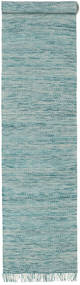 Vilma - Turquoise Mix Rug 80X350 Authentic  Modern Handwoven Hallway Runner  Light Blue/Turquoise Blue (Wool, India)
