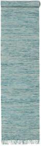 Vilma - Turquoise Mix Tæppe 80X400 Ægte Moderne Håndvævet Tæppeløber Lyseblå/Turkis Blå (Uld, Indien)