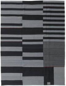 Kelim Moderni Matto 180X236 Moderni Käsinsolmittu Tummanharmaa/Vaaleanharmaa (Villa, Intia)