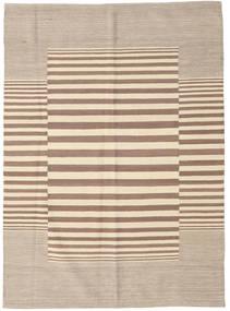 Kelim Moderni Matto 128X177 Moderni Käsinsolmittu Vaaleanruskea/Beige (Villa, Intia)