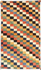 ギャッベ ペルシャ 絨毯 91X163 モダン 手織り 濃いグレー/オレンジ (ウール, ペルシャ/イラン)