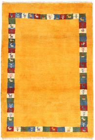 Gabbeh Perzsa Szőnyeg 103X150 Modern Csomózású Narancssárga/Bézs (Gyapjú, Perzsia/Irán)