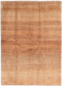 Gabbeh Persia Rug 144X202 Authentic  Modern Handknotted Light Brown/Light Pink (Wool, Persia/Iran)