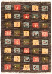 Gabbeh Perské Koberec 86X119 Moderní Ručně Tkaný Tmavě Hnědá/Hnědá (Vlna, Persie/Írán)