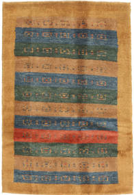 Gabbeh Persan Tapis 83X123 Moderne Fait Main Marron Clair/Bleu (Laine, Perse/Iran)