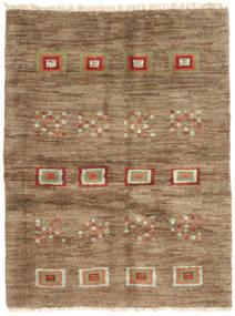 Gabbeh Persisk Matta 92X121 Äkta Modern Handknuten Ljusbrun/Brun (Ull, Persien/Iran)