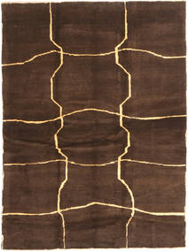Gabbeh Persia Rug 153X208 Authentic  Modern Handknotted Dark Brown/Brown (Wool, Persia/Iran)