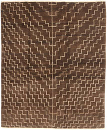 Gabbeh Persia Rug 151X186 Authentic  Modern Handknotted Dark Brown/Brown (Wool, Persia/Iran)