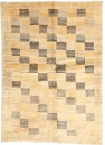 Gabbeh Persia Rug 113X154 Authentic  Modern Handknotted Beige/Dark Beige/Light Brown (Wool, Persia/Iran)