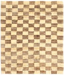 Gabbeh (Persja) Dywan 123X144 Nowoczesny Tkany Ręcznie Jasnobrązowy/Żółty (Wełna, Persja/Iran)