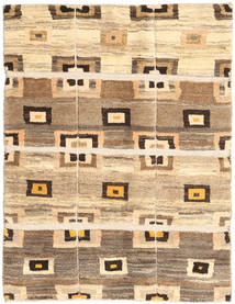 Gabbeh Persia Rug 93X121 Authentic  Modern Handknotted Beige/Brown (Wool, Persia/Iran)