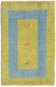 Gabbeh Persia Rug 58X91 Authentic Modern Handknotted Yellow/Olive Green/Light Blue (Wool, Persia/Iran)