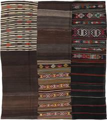 Kilim Patchwork Tappeto 226X259 Moderno Tessuto A Mano Marrone Scuro/Marrone Chiaro (Lana, Turchia)