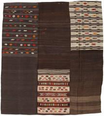 Kilim Patchwork Rug 204X227 Authentic  Modern Handwoven Dark Brown/Light Brown (Wool, Turkey)