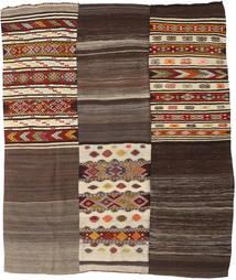 Kilim Patchwork Tapis 216X259 Moderne Tissé À La Main Marron Clair/Marron Foncé (Laine, Turquie)