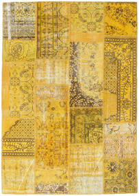 Patchwork Rug 162X230 Authentic  Modern Handknotted Yellow/Brown (Wool, Turkey)