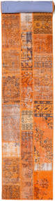 Patchwork Rug 80X506 Authentic  Modern Handknotted Hallway Runner  Orange/Light Brown (Wool, Turkey)