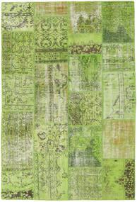 Patchwork Alfombra 161X238 Moderna Hecha A Mano Verde Claro/Verde Oliva (Lana, Turquía)