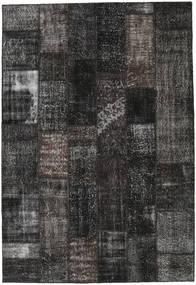 Patchwork Rug 204X298 Authentic  Modern Handknotted Black/Dark Grey (Wool, Turkey)