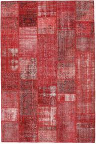 Patchwork Alfombra 200X302 Moderna Hecha A Mano Rojo Oscuro/Roja (Lana, Turquía)