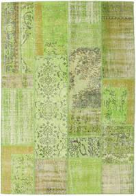 Patchwork Szőnyeg 161X233 Modern Csomózású Világoszöld/Olívazöld (Gyapjú, Törökország)