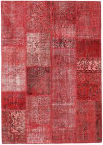 Patchwork Teppich  162X231 Echter Moderner Handgeknüpfter Rot/Dunkelrot (Wolle, Türkei)