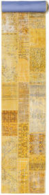Patchwork Rug 80X610 Authentic  Modern Handknotted Hallway Runner  Yellow/Light Brown (Wool, Turkey)