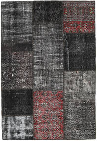 Patchwork Rug 124X183 Authentic  Modern Handknotted Black/Dark Grey (Wool, Turkey)